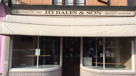 JD Bales Bakery on Northgate Street, Great Yarmouth, when it closed in February 2019.