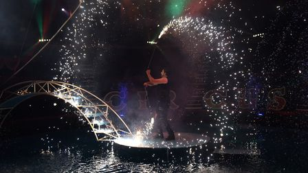 Cast members put on a show for rehersals of the summer spectacular. Byline: Sonya Duncan (C) Archant