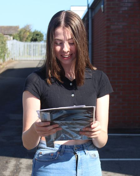 Students at Caister Academy receive their GCSE results 2020. Picture: Caister Academy.