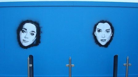 The paintings have appeared on the blue Marina Centre hoardings along Great Yarmouth seafront, and h