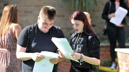 Great Yarmouth Charter Academy students at GCSE results day. Picture: Jamie Honeywood