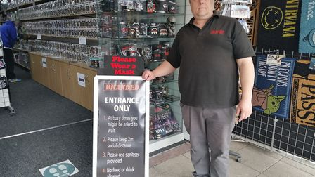 Steve Cook from Branded Toys on Regent Road said that trade was picking up thanks to the holiday mak