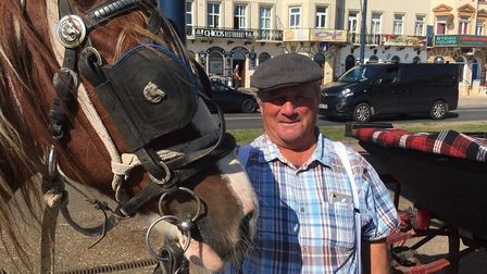 Landau driver Ronnie Bilyard has enjoyed a busy summer season on Great Yarmouth seafront, helping to