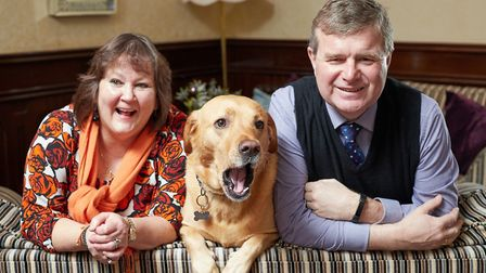 Nick and Aileen Mobbs of Great Yarmouth's Imperial Hotel with their dog Sammy. Picture: Imperial Hot