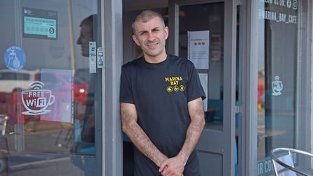 Gorleston beach wins TripAdvisor Award. George Challouma, director of Marina bay takeaway. Pictures: