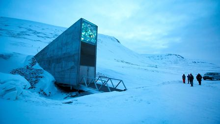 A general view of the entrance of the international gene bank Svalbard Global Seed Vault (SGSV), out