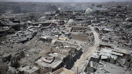 The destruction in Mosul's Old City. Getty Images)