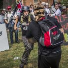 """White supremacist groups clashed with hundreds of counter-protesters during the """"Unite The Right"""" ra"""