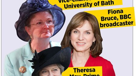 Glynis Breakwell £451,000 a year, Fiona Bruce £350,000-399,999 a year. Theresa May £150,000 a year