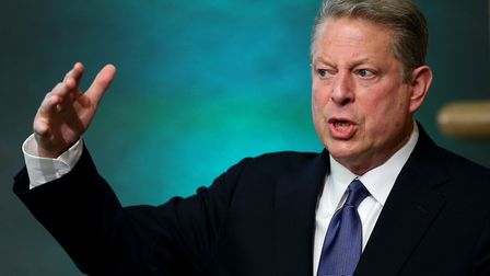 """File photo dated 16/04/13 of Al Gore, who has said that US President Donald Trump is """"less of a"""