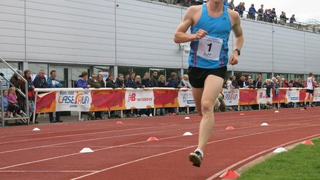 Tom Toolis in running action at the University of Bath (pic Pentathlon GB)