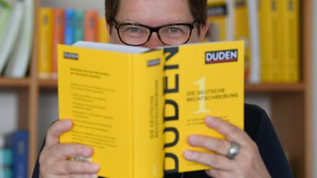 The editor-in-chief of the Duden publisher Kathrin Kunkel-Razum can be seen in Berlin, Germany, 24 J