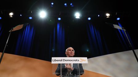 Liberal Democrats leader Sir Vince Cable makes his keynote speech at his party's annual conference a