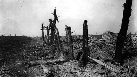 1916: Bapaume - Arras sector of the battlefield after the first Battle of the Somme had taken place