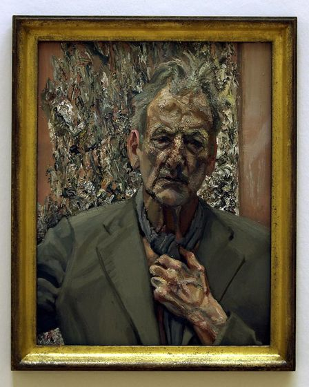 A previously unseen work by British artist Lucien Freud at Tate Britain, London. The painting, entit