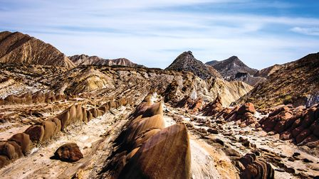 Tabernas Desert - the annual rainfall does not exceed 25mm, with the average temperature over 17 deg