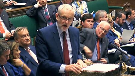 Labour Party leader Jeremy Corbyn responds to Prime Minister Theresa May's statement to MPs in the H