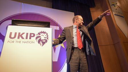 Henry Bolton was announced as the new UKIP leader at the Riviera International Centre in Torquay.