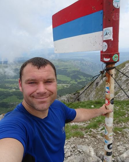 Lee Humphries at Maglic in Bosnia and Herzegovina.
