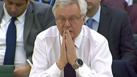 Brexit Secretary David Davis gives evidence on developments in European Union divorce talks to the C