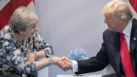 Prime Minister Theresa May holds talks with US President Donald Trump. Picture: Stefan Rousseau.