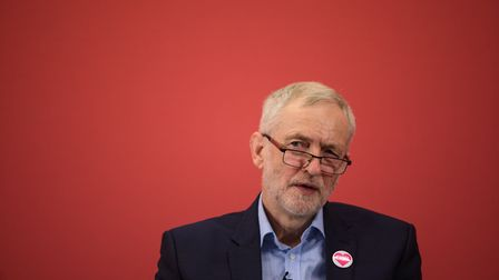Alastair Campbell asks Jeremy Corbyn if it's time for a new slogan. Photo: Getty
