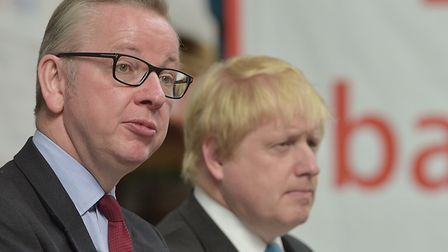 Gove and Johnson during a Vote Leave EU referendum campaign