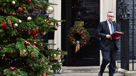 Secretary of State for Environment, Michael Gove leaving Downing Street following a Brexit Cabinet m