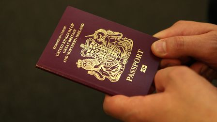 The current burgundy passports in the UK. Photograph: Katie Collins/PA Wire