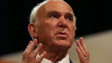 Liberal Democrats leader Sir Vince Cable. Photo: Andrew Matthews/PA