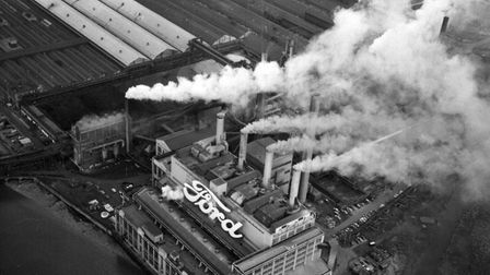 Ford factory in Dagenham, 1972. Photo: PA Archive.