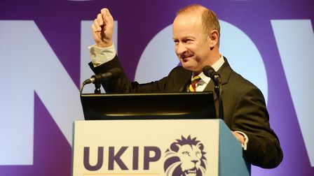UKIP leader Henry Bolton whose girlfriend Jo Marney has been suspeneded by the party over a racism r