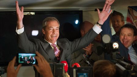 What are the motivations for politician and broadcaster Nigel Farage? Photo: PA Wire/PA Images.