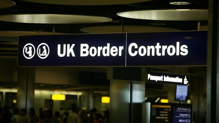 Border control at London Heathrow Airport. Picture: Steve Parsons/PA