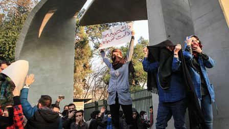 There is another way to treat protests in Iran, syas MP Mike Gapes. Pictures: STR/AFP/Getty Images)