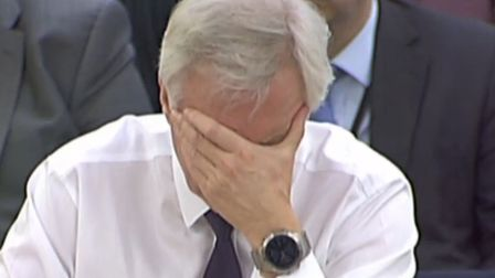 Brexit Secretary David Davis gives evidence to the Commons Exiting the EU Committee in Portcullis Ho