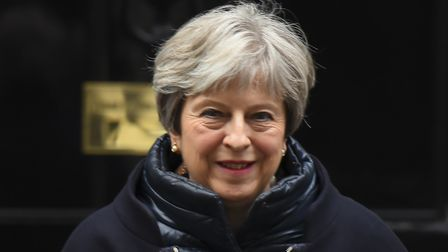 Putting on a brave face: Prime Minister Theresa May. Picture: NurPhoto/SIPA USA/PA Images