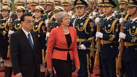 The prime minister is currently on a three day visit to China to encourage post-Brexit investment in