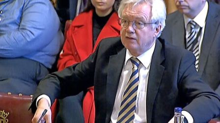 Brexit Secretary David Davis gives evidence to the the European Union Select Committee in the House