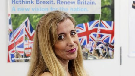 Sandra Khadhouri attends the launch of the Renew political party. (Photo: Jonathan Brady/PA Wire)
