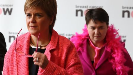 First Minister Nicola Sturgeon and Scottish Conservative leader Ruth Davidson (here taking part in a