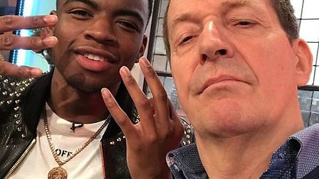 The New European's Editor-at-Large, Alastair Campbell, with 19-year-old rapper Not3s on Saturday Mor