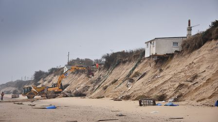 Demolition of houses at Hemsby. Picture: ANTONY KELLY