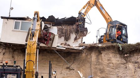 Home were demolished following severe erosion in The Marrams, Hemsby. Picture: Nick Butcher