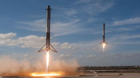 The launch of the Falcon Heavy rocket. Picture: PA