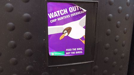 The council have put sings on bins in the hope of encouraging people to dispose of their waste