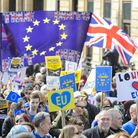 Protesters take part in a March for Europe rally against Brexit. Photograph: Matt Crossick/ EMPICS E