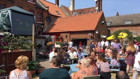 The Kings Arms in Great Yarmouth was packed for England's victory over Sweden in 2018.