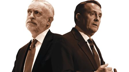 Jeremy Corbyn and Liam Fox. Picture: PA