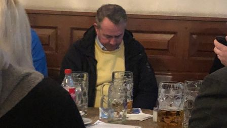 Liam Fox spotted in Munich - without Adam Werritty. Picture: Submitted